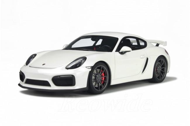 GT スピリット 1/18 ポルシェ ケイマン GT4 981 2015 ホワイト