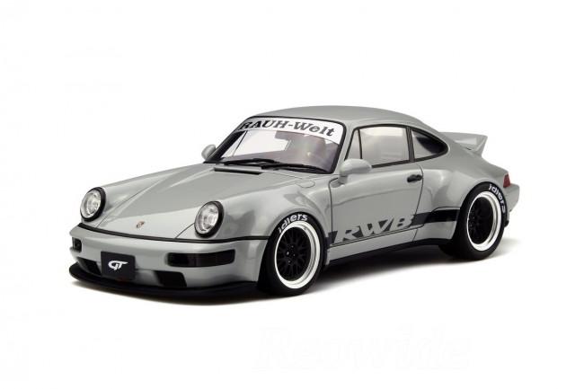 GT スピリット 1/18 ポルシェ 911 964 RWB ダックテール グレー