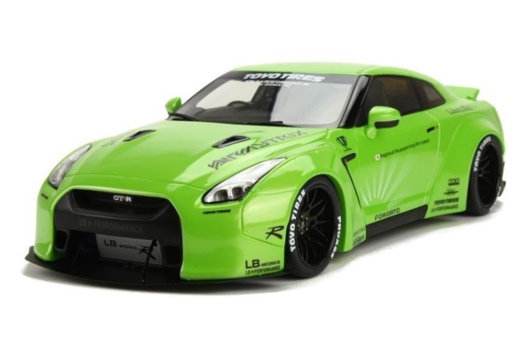 GT 504台限定 SPIRIT LB★WORKS リバティウォーク GT-R 1/18 R35 グリーン