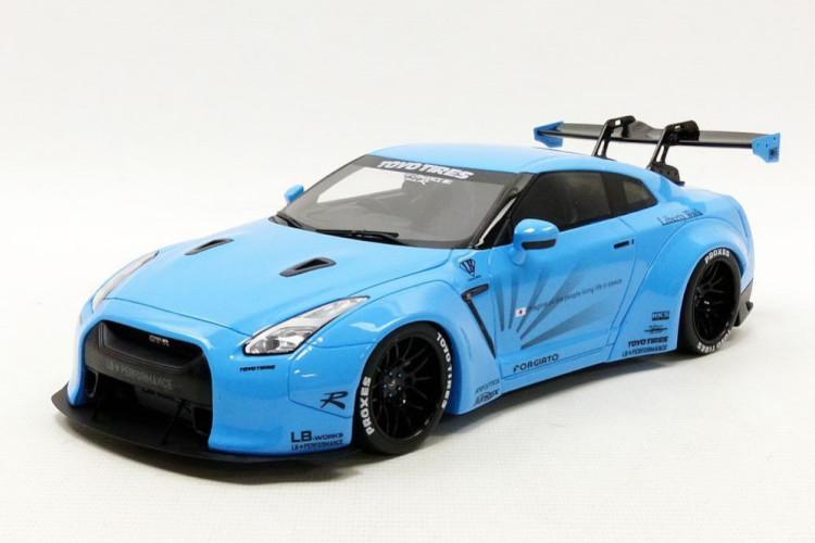 GT SPIRIT 1/18 LB★WORKS R35 GT-R リバティウォーク ベイビーブルー 504台限定