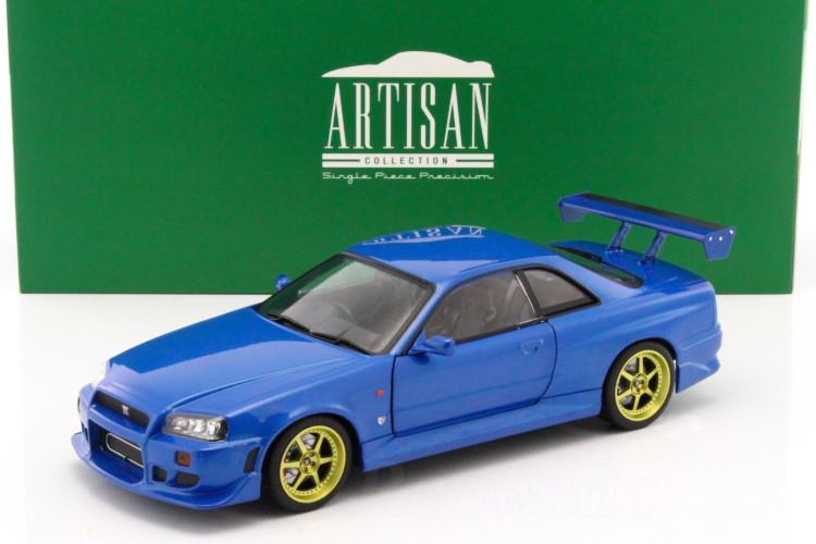 Greenlight 1/18 日産 R34 スカイライン GT-R 1999 ブルー