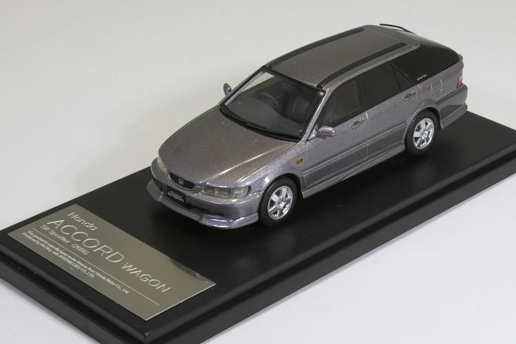 ハイストーリー Hi-Story 1/43 ホンダ アコード ワゴン SiR スポイラー 2000 CL2 シグネットシルバーメタリック Honda Accord Wagon