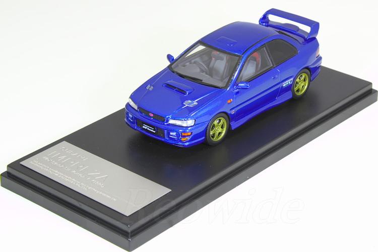 ハイストーリー 1/43 スバル インプレッサ WRX Type R STI バージョン V 1998 ソニックブルーマイカ