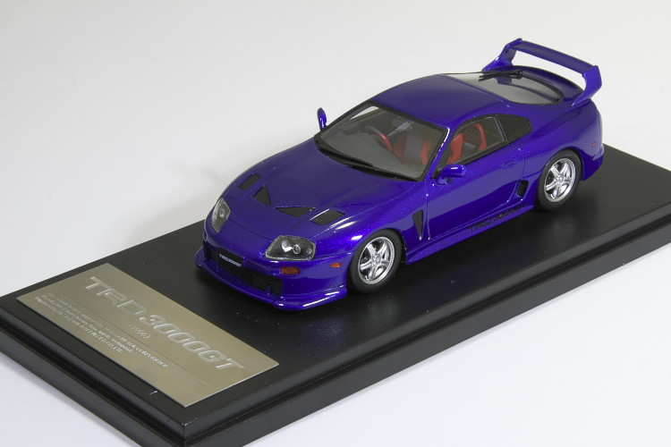 ハイストーリー Hi-Story 1/43 TRD 3000GT 1996 ブルーマイカメタリック (トヨタ スープラ JZA80) Supra