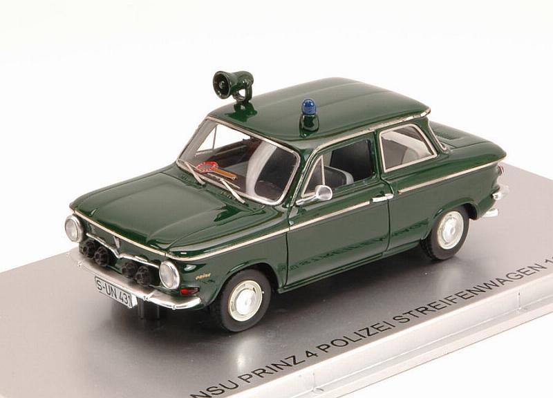 KESS 1/43 NSUプリンツ 4 パトカー1964 ポリス グリーン NSU - PRINZ 4 POLIZEI STREIFENWAGEN 1964 POLICE