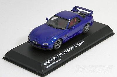 京商 1/43 マツダ RX-7 (FD3S) スピリットR タイプA Innocent Blue Mica