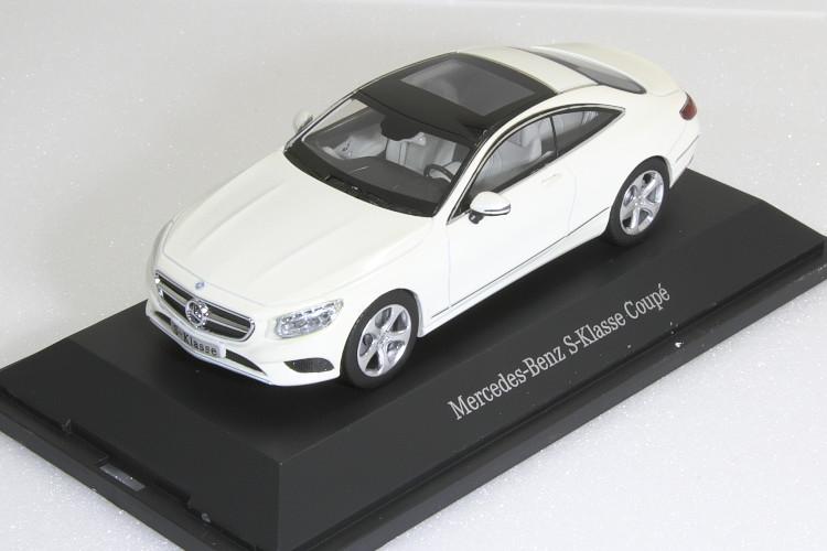 京商 1/43 メルセデス・ベンツ Sクラス クーペ 2014 C217 ホワイトベンツディーラー特注  Mercedes-Benz S-Class Coupe Diamond White Metallic Bright