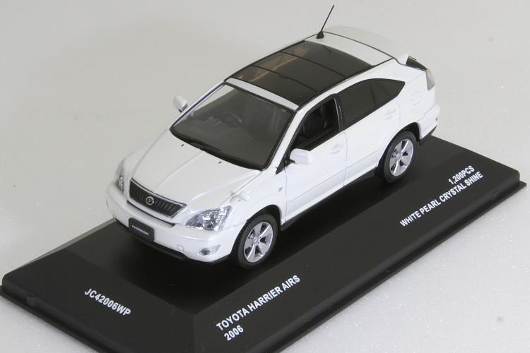 京商 Jコレクション 1/43 トヨタ ハリアー AIRS 2006 ホワイト HARRIER