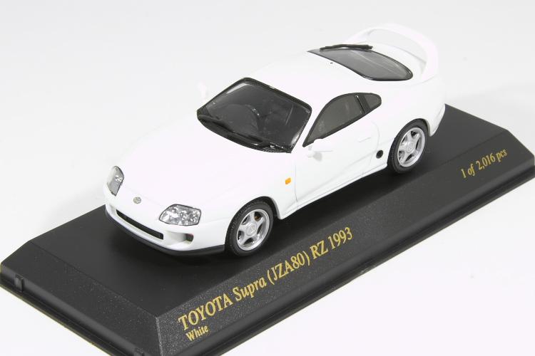<title>中古品 京商 1 43 トヨタ スープラ 送料込 RZ 1993 ホワイト ハウザック TOYOTA Supra White JZA80</title>