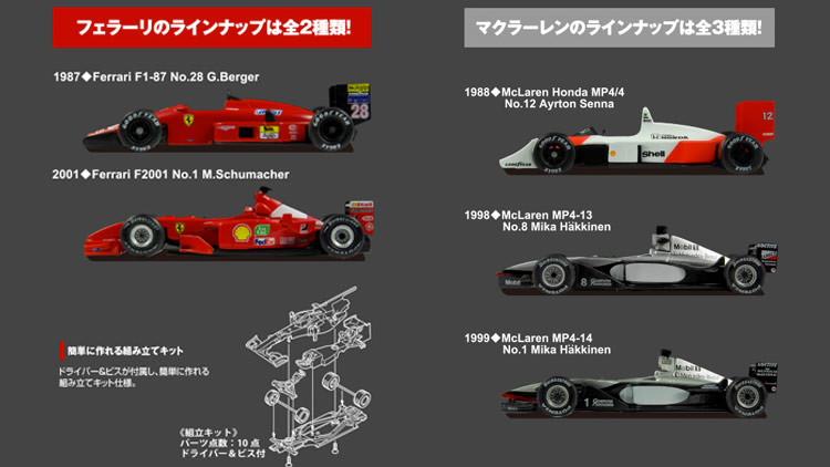 京商 1/64 Vol.3 5台セット マクラーレン フェラーリ Ferrari F1-87 Ferrari F2001 McLaren Honda MP4/4 McLaren MP4-13 McLaren MP4-14 鈴鹿レジェンド SUZUKA KEGEND