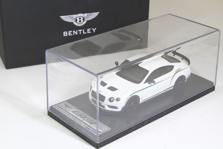 ルックスマート 1/43 ベントレーディーラー特注 ベントレー GT3-R ホワイト 2015 グッドウッド・フェスティバル・オブ・スピード 2014