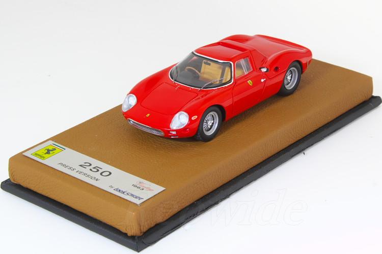 ルックスマート 1/43 フェラーリ 250 ロッソコルサ 1963 プレスバージョン レザーベース GTO