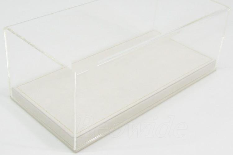 MR Collection 1/18用 プレキシガラス製 ベージュアルカンターラベース ディスプレイケース フェラーリ・ランボルギーニ・マセラティ