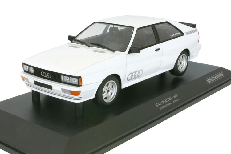 ミニチャンプス 1/18 アウディ クワトロ 1980 ホワイト Audi Quattro