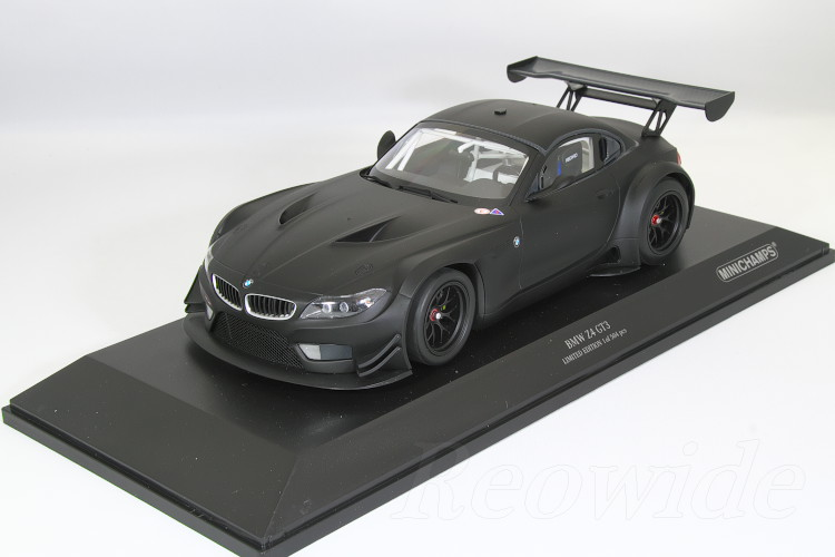 ミニチャンプス 1/18 BMW Z4 GT3 マットブラック 2012 504台限定