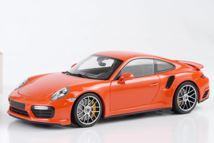 ミニチャンプス 1/18 ポルシェ 911 ターボ S (991-2) 2016 ラバオレンジ lava orange 504台限定 フル開閉 Porsche 911 (991) Turbo S