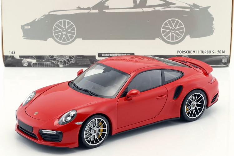 ミニチャンプス 1/18 ポルシェ 911 ターボ S (991-2) 2016 レッド 504台限定 フル開閉 Porsche 911 (991) Turbo S