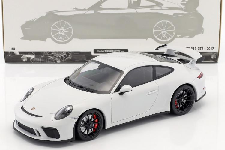 ミニチャンプス 1/18 ポルシェ 911 GT3 (991-2) 2017 カレラホワイトメタリック carrara white metallic 222台限定 フル開閉