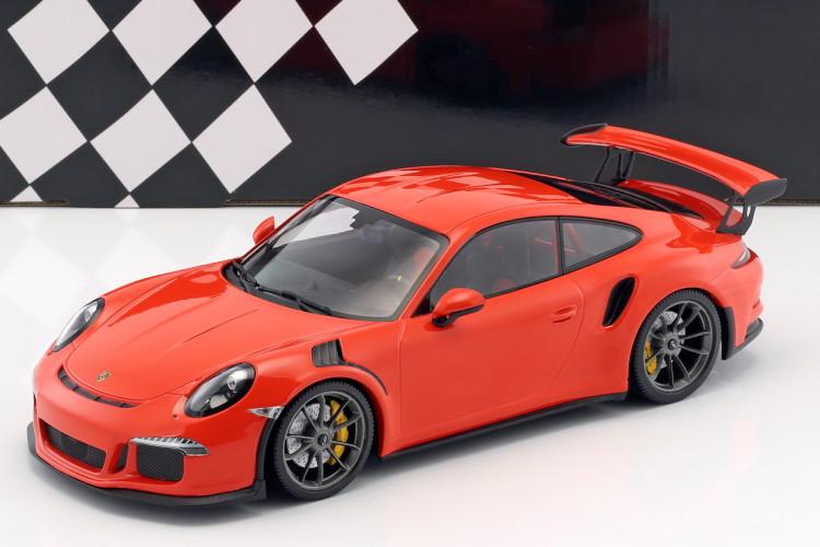 ミニチャンプス 1/18 ポルシェ 911 (991) GT3 RS 2015 ラバオレンジ lava orange