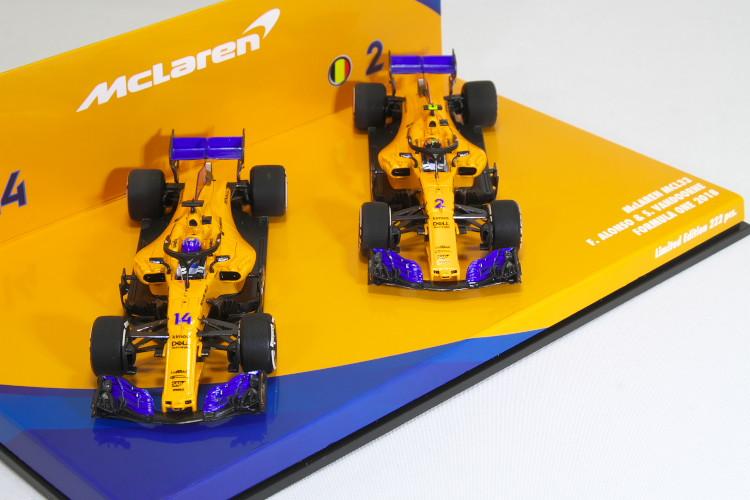 ミニチャンプス EDITION43 1/43 マクラーレン MCL33 #2 #14 アロンソ / ストフェル・バンドーン 2018 McLaren MCL33 F.Alonso / S.Vandoorne 222台限定