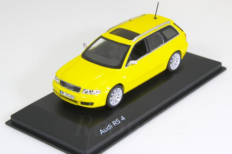 ミニチャンプス アウディ特注 1/43 アウディ RS4 Avant イエロー (Imola Yellow) 1999-2001 B5