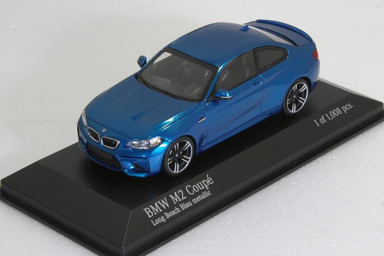ミニチャンプス 1/43 BMW M2 クーペ F87 2016 ブルー・メタリック BMW M2 Coupe year 2016 blue metallic