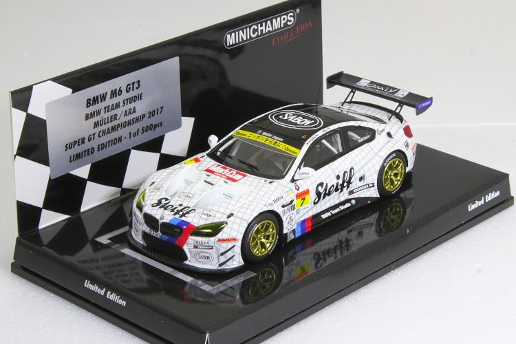 ミニチャンプス 1/43 BMW M6 GT3 BMW Sports Trophy チーム スタディ J.MULLER/S.ARA スーパーGT 2017 500台限定