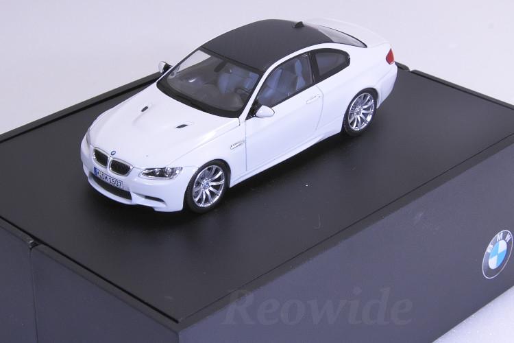 ミニチャンプス 1/43 BMW M3 クーペ E92 ホワイト ディーラーボックス