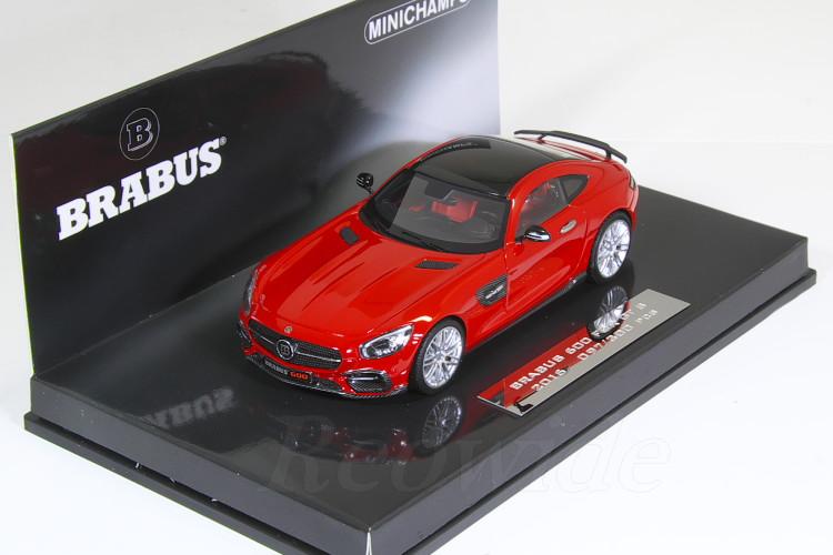 ミニチャンプス 1/43 ブラバス 600 メルセデスベンツ GT S 2016 レッド 300台限定