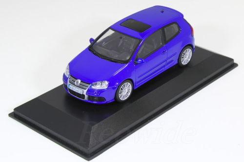 ミニチャンプス 1/43 VW ゴルフ V R32 ブルー