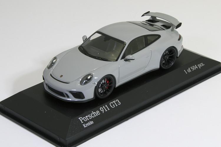 ミニチャンプス 1/43 ポルシェ 911 (991-2) GT3 2017 グレー(Kreide) 504台限定