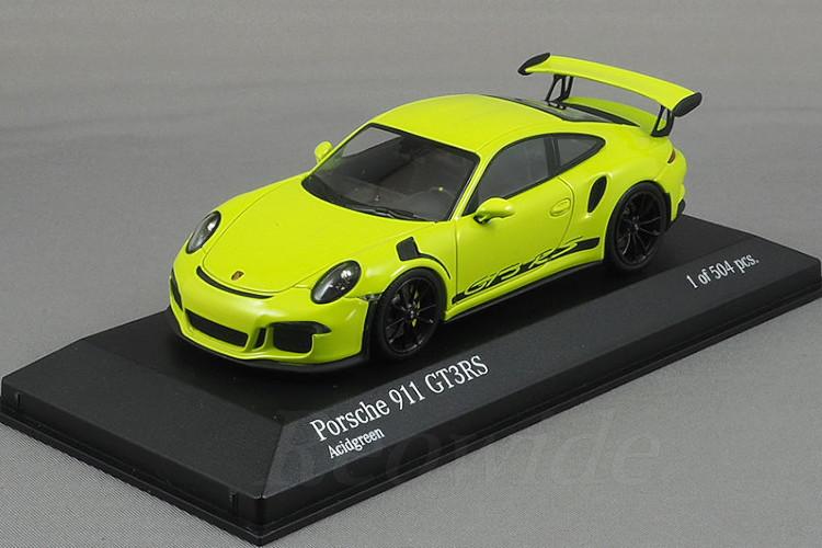 ミニチャンプス 1/43 ポルシェ 911 (991) GT3 RS 2015 Acidgreen 504台限定
