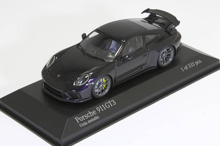 ミニチャンプス 1/43 ポルシェ 911 (991-2) GT3 2017 ブラック 222台限定