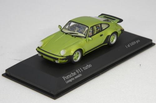 <中古品>ミニチャンプス 1/43 ポルシェ 911 930 ターボ 1977 Minichamps Porsche 911 930 turbo Light Green Metallic