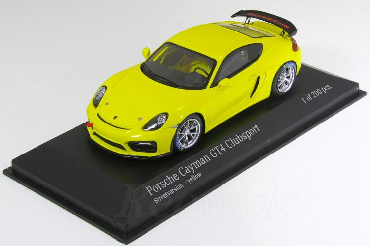 2019激安通販 ミニチャンプス 1/43 ポルシェ ケイマン GT4 ポルシェ 981 GT4 クラブスポーツ ケイマン ストリートバージョン イエロー 200台限定, ウリュウグン:ea541353 --- canoncity.azurewebsites.net