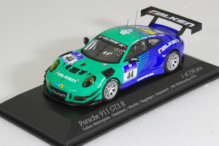 ミニチャンプス 1/43 ポルシェ 911 (991) GT3 R ファルケン 24時間 ニュルブルクリンク 2016 250台限定 Falken Motorsports Dumbreck / Henzler , Ragginger / Imperatori