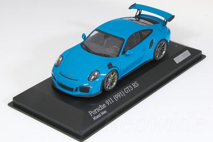ミニチャンプス 1/43 ポルシェ 911 (991) GT3 RS マイアミブルー 200台限定