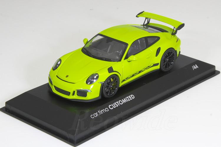 ブラックホイール / (991) RS ライトグリーン 911 1/43 ポルシェ 44台限定 GT3 ミニチャンプス