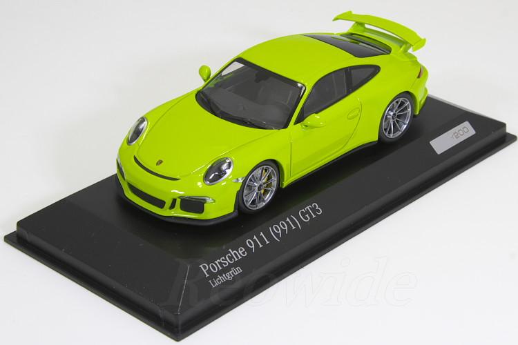 ミニチャンプス 1/43 ポルシェ 911 (991) GT3 ライムグリーン 200台限定