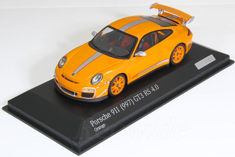 ミニチャンプス 1/43 ポルシェ 911 (997) GT3 RS 4.0 オレンジ 100台限定