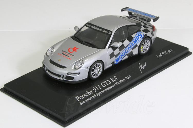 ミニチャンプス 1/43 ポルシェ 911 GT3 RS (997) Spielwarenmesse ニュルンベルグ 2007 576台限定