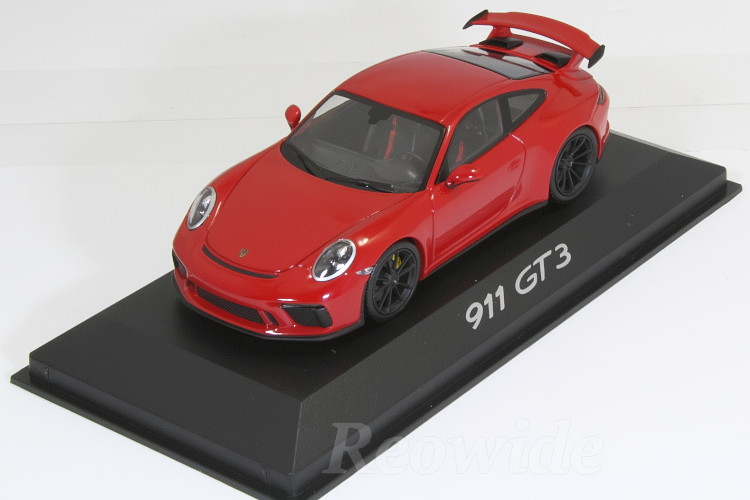 ミニチャンプス 1/43 ポルシェ 911 (991-2) GT3 2017 レッド indischrot