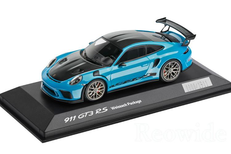 ミニチャンプス 1/43 ポルシェ 911 (991-2) GT3 RS ヴァイザッハパッケージ マイアミブルー 2018 ith Weissach package Miami Blue 次回入荷未定