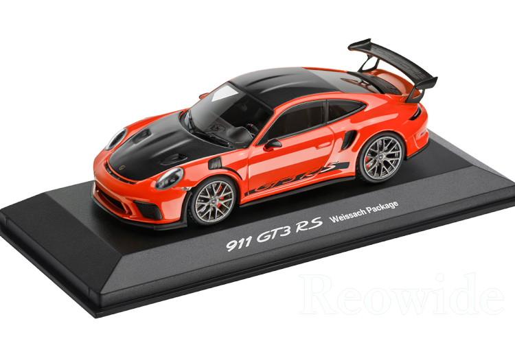 ミニチャンプス 1/43 ポルシェ 911 (991-2) GT3 RS ヴァイザッハパッケージ ラバオレンジ 2018 ith Weissach package Lava Orange 次回入荷未定