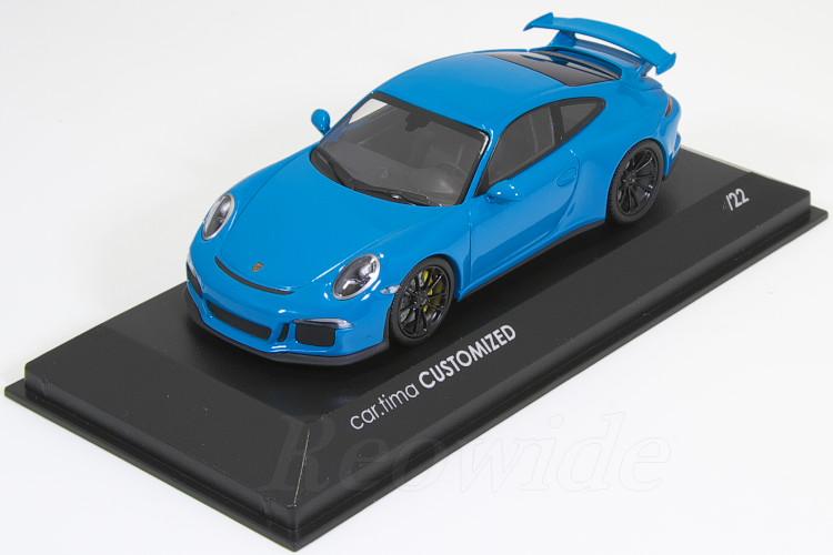 ミニチャンプス 1/43 ポルシェ 911 (991) GT3 マイアミ ブルー / ブラックホイール 22台限定