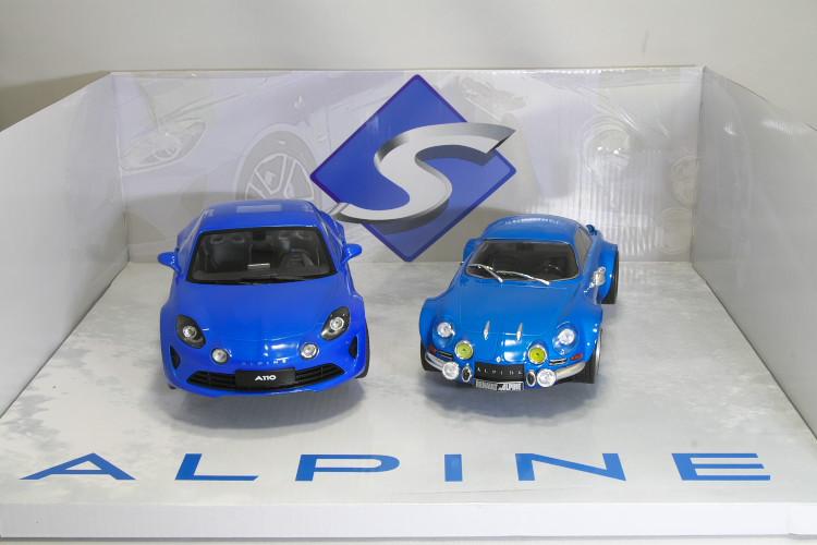ソリド 1/18 ルノー アルピーヌ A110 1800S クーペ 1973 + A110 プレミアムエディション 2017 ブルー 2台セットSOLIDO Renault ALPINE A110 1800S COUPE 1973 + A110 COUPE PREMIER EDITION 2017