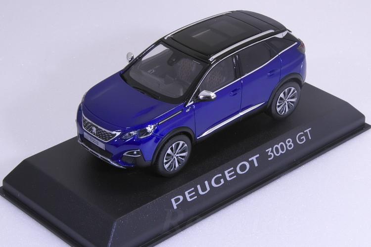 ノレブ 1/43 プジョー 3008 GT 2016 ブルー Bleu Magnetic