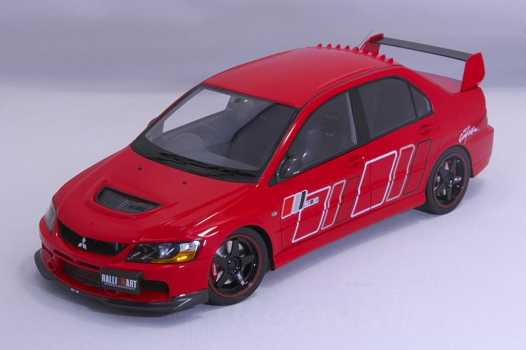 AGU MODEL 1/18 三菱 ランサーエボリューション lX 9 ラリーアート レッド MITSUBISHI Lancer Evolution lX RALLIART