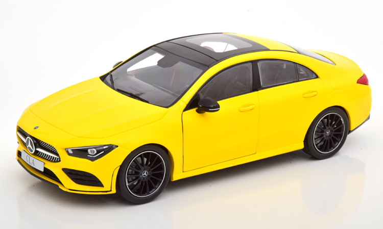 Z-Models 1/18 メルセデス・ベンツ CLAクラス C118 クーペ 2019 イエロー メルセデス特別版 Mercedes CLA-Klasse Coupe yellow special edition of Mercedes
