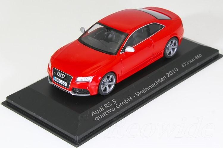 シュコー 1/43 アウディ RS5 クーペ ミサノレッド 2010 850台限定 Weihnachten 2010 - quattro GmbH